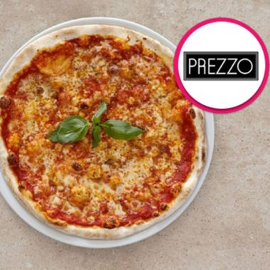 Three Course Meal with Glass of Wine for Two at Prezzo